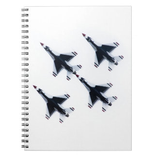 F-16 Thunderbirds - Four in Formation Notebook
