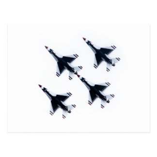 F-16 Thunderbirds - Four in Formation Postcard