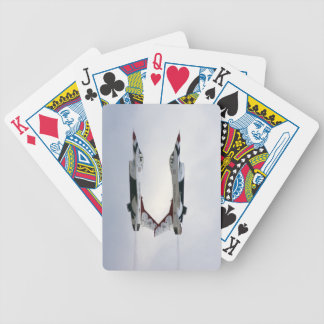 F-16 Thunderbirds Maneuver - Inverted Bicycle Playing Cards