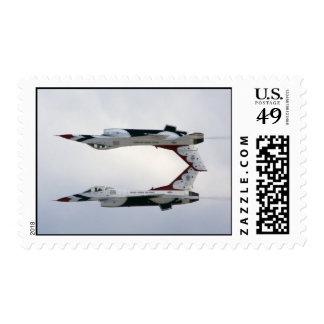 F-16 Thunderbirds Maneuver - Inverted Postage