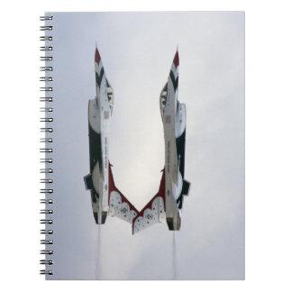 F-16 Thunderbirds Maneuver - Inverted Spiral Notebook