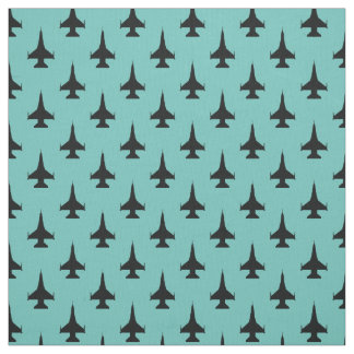 F-16 Viper Fighter Jet Pattern Black Fabric