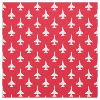 F-16 Viper Fighting Falcon Jet Pattern White Fabric