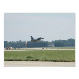 F-16C takes-off at Shaw AFB, SC. Poster