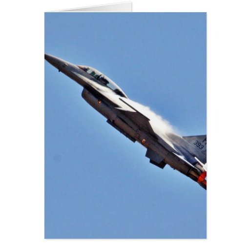 F 16s Jets Fighters Airplanes Greeting Card