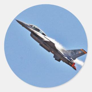 F 16s Jets Fighters Airplanes Round Sticker