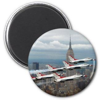 F-16's New York City 2 Inch Round Magnet