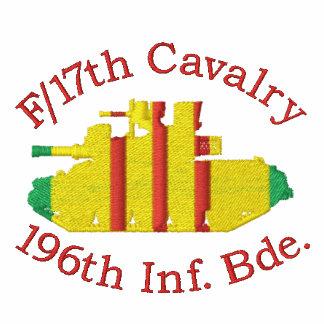F /17th Cav. 196o Camisa bordada M551 de la