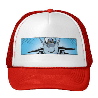 F-18 Air Force Cartoon Art Cap Trucker Hat