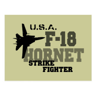 F-18 avispón - combatiente de la huelga tarjeta postal