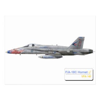 F-18 con la escuadrilla azul de los diamantes tarjeta postal