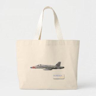 F-18 con la escuadrilla azul de los diamantes VFA- Bolsa De Mano