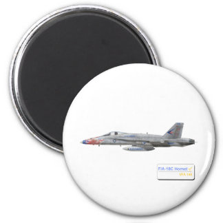 F-18 con la escuadrilla azul de los diamantes VFA- Imán De Frigorífico