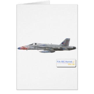 F-18 con la escuadrilla azul de los diamantes VFA- Tarjetas