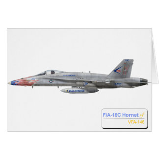 F-18 con la escuadrilla azul de los diamantes VFA- Tarjeton
