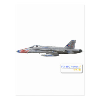 F-18 con la escuadrilla azul de los diamantes VFA- Tarjetas Postales