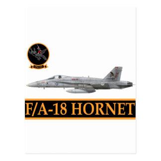 F-18 con la escuadrilla de los ARGONAUTAS VFA-147 Postal