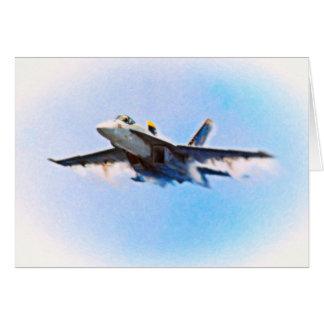 F-18 de CVN-76 Tarjeta De Felicitación
