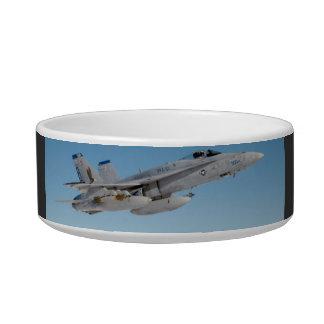 F -18 FIGHTER JET CAT BOWLS