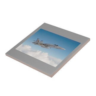F -18 FIGHTER JET SMALL SQUARE TILE