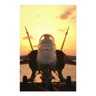 F-18 Hornet at sea aboard US Aircraft Carrier Full Color Flyer