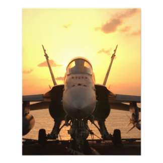 F-18 Hornet at sea aboard US Aircraft Carrier Flyers
