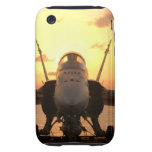 F-18 Hornet at sea aboard US Aircraft Carrier iPhone 3 Tough Cases