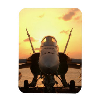F-18 Hornet at sea aboard US Aircraft Carrier Magnet