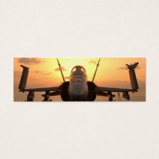F-18 Hornet at sea aboard US Aircraft Carrier Mini Business Card