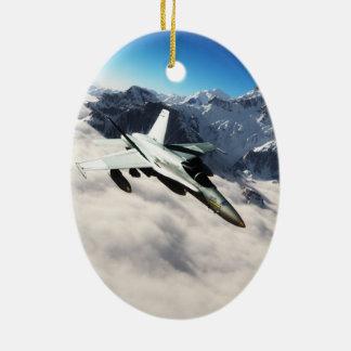 F 18 Hornet Ceramic Ornament