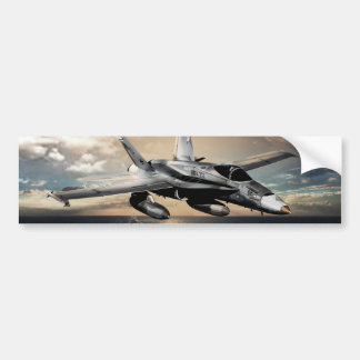 F-18 Hornet Fighter Jet Bumper Sticker