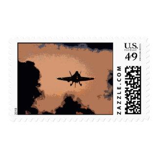 F-18 Hornet Landing Postage Stamp