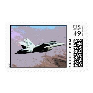 F-18 Hornet Postage Stamp