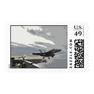 F-18 Hornet take-off Postage Stamp