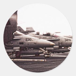 F-18 Lineup Classic Round Sticker
