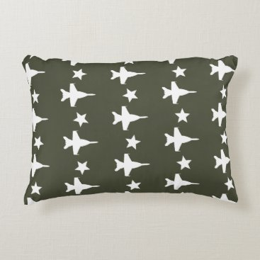F-18 Pattern Accent Pillow