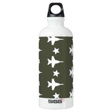 F-18 Pattern Aluminum Water Bottle