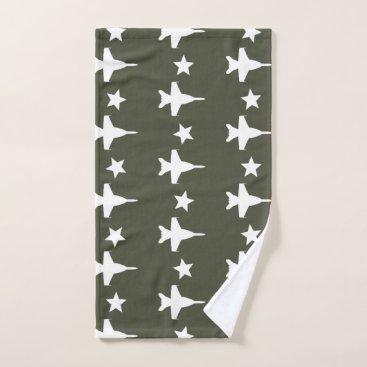 F-18 Pattern Bath Towel Set