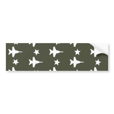 F-18 Pattern Bumper Sticker