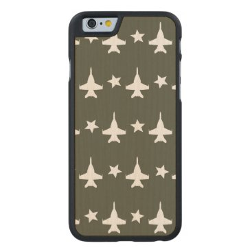 F-18 Pattern Carved Maple iPhone 6 Case