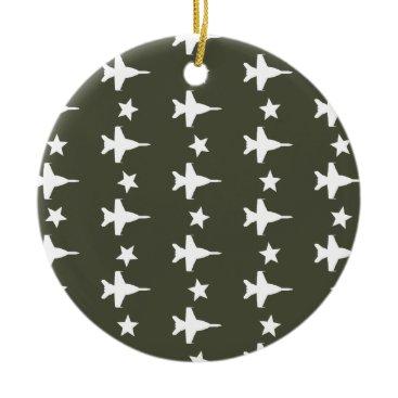 F-18 Pattern Ceramic Ornament