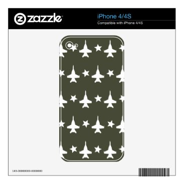 F-18 Pattern Decal For iPhone 4