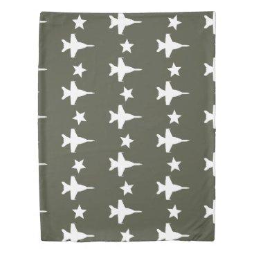 F-18 Pattern Duvet Cover
