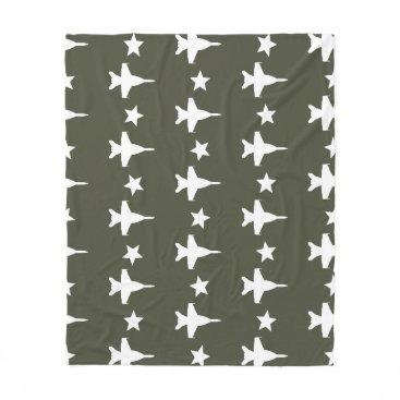 F-18 Pattern Fleece Blanket