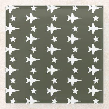 F-18 Pattern Glass Coaster