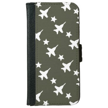 F-18 Pattern iPhone 6/6s Wallet Case