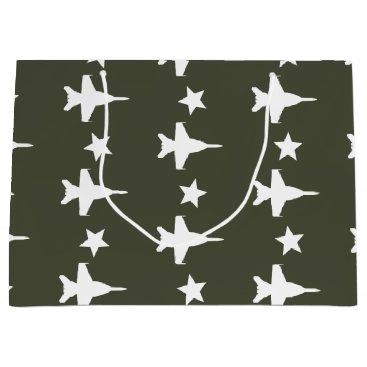 F-18 Pattern Large Gift Bag