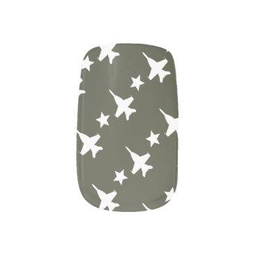 F-18 Pattern Minx Nail Art