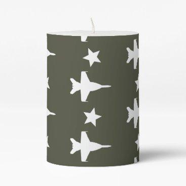 F-18 Pattern Pillar Candle