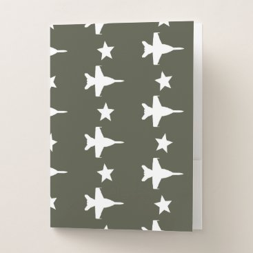 F-18 Pattern Pocket Folder